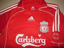 Adidas Liverpool Soccer Jersey Red Athletic Shirt Team Training Mens Small S