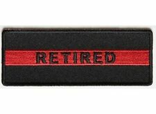 RETIRED Red Line Fire Fighter Firefighter Fireman MC Biker Vest Patch PAT-3662