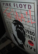 PINK FLOYD 1980 80's THE WALL CONCERT ART  LA London '81  POSTER 1999 TIN SIGN