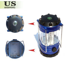 Portable 12 LED Camping Bivouac Hiking Tent Lantern Fishing Light Lamp + Compass