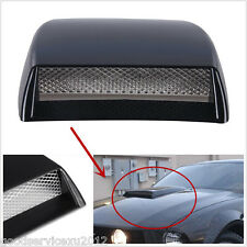 Black Car Front Hood 3D Simulation Decorative Air Flow Intake Vent Cover Sticker