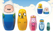 ADVENTURE TIME - WOOD NESTING DOLLS SET - ENTERTAINMENT EARTH EXCLUSIVE - RARE