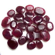 300 Ct/24 Pcs Natural African Red Ruby Mix Faceted Cut Loose Gems For Rings qty
