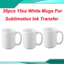 Wholesale 36pcs 15oz White Sublimation Mugs Press DIY Cups Party Birthday Gifts