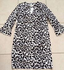 NWT J Crew Collection Dress Snow Leopard Size 4