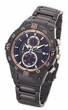 Accurist Pro-Timer MB781Br Gents Brown IP Plated Chronograph Bracelet Watch