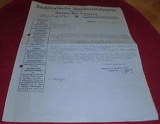 schreiben / rechnung alt antik marmor industrie rodi & co biberach1930 papier