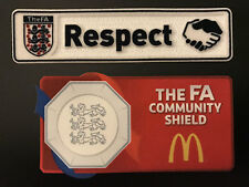 Offical FA Community Shield 2016-2017 patches Manchester United Leicester City