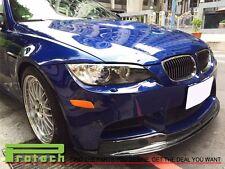 BMW 2008-2013 E92 E93 M3 AK1 Type Carbon Fiber Front Bumper Add on Lip