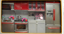 Cocinita roja 4partes red Kitchen 1/6 doll Barbie pullip dal blythe momoco licca
