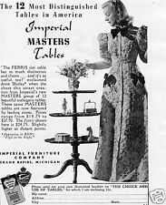 1940 Imperial Furniture Company Ferris Masters Table Print Ad