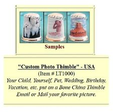 Personalized Thimble on Bone China  -   Made by LOTSA ©