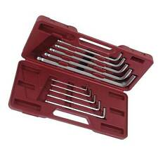BALL END METRIC HEX ALLEN KEY SET INC LARGE SIZES : 3 4 5 6 7 8 10 12 14 17 mm