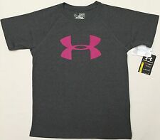 NWT youth Boys' YSM small UNDER ARMOUR t-shirt tee loose gray ANTI-ODOR top