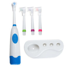 Revolving Electric Toothbrush Clean Waterproof With 3 Brush Heads For Children