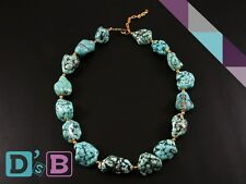 Huge Turquoise Beaded Necklace Fashion Jewelry