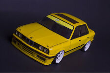BMW E30 Sedan 4D 316 320 325 1/10 body to fit Tamiya, LRP, HPI, Yokomo MST drift