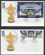 Australia 2003 Rugby World Cup FDC Set of 2 (Sydney, NSW 2000)