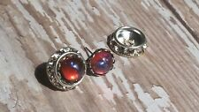Halo Earrings with Dragon's Breath Wear 2 ways as studs or with crystal halo