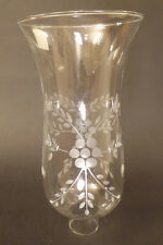 """1 5/8"""" Clear Flower Glass Hurricane Lamp Shade Candle Chandelier Light, 5"""" x 10"""""""