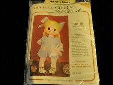 "Vtg Bucilla Blonde Laurie Hug Me Toy Doll Kit 22"" tall Complete Kit #2345  A60"
