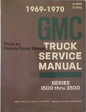 1969 1970 GMC Truck Van Suburban 1500 - 3500 Factory Shop Service Repair Manual