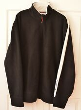 Vintage TOMMY HILFIGER Men's XXL 1/4 Zip Fleece Logo Pullover Black