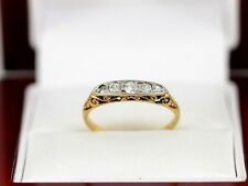Diamond Five Stone Ring 18ct Gold Ladies Engagement Size N W88