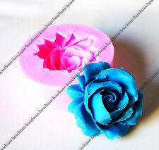 Mini Rose Flower Shape Chocolate Fondant Mold Candy Cake Decor Silicone Mould