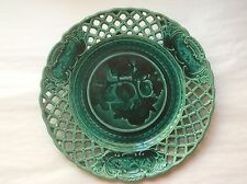Antique French 'EMAUX OMBRANTS' Plate Rubelles Majolica c1842, fm824