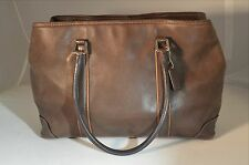Coach Brown Leather Hampton Tote Shopper Purse Bag 7585