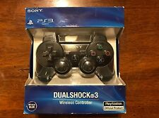 Official SONY Playstation 3 Controller for PS3 Black Dual Shock Wireless