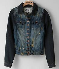 BKE The Buckle White Crow Demin Distressed Jacket Sold Out Medium Retails $54.99