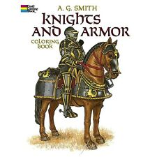 Coloring Book for Adults Reduce Stress -Knights Armor Vikings Anxiety Treatment