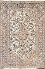 "Stunning Floral Ivory 6x9 Kashan Persian Area Rug Oriental Carpet 9' 4"" x 6' 4"""