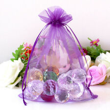 New 100 Pieces Sheer Organza Wedding Party Favour Gift Candy Bags Pouches
