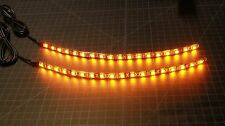 5050 LED Motorcycle Turn Signals Flexible Strip Blinkers Slim Flush Mini Cycle