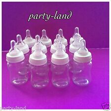 24 Fillable Bottles For Baby Shower Favors White Party Decorations Girl & Boy