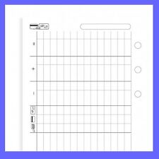Filofax Pocket Size Finances Diary Paper 20 Sheets Refill Insert 210618