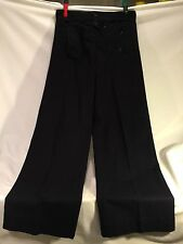Vtg U.S. Navy Naval MILITARY Sailor 13 Button Rear Lace Pants 30 R 100% wool
