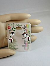 Claire's Holiday Christmas Wobble Frosty The Snowman Earrings  USA SELLER