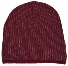 New Gucci 352350 Men's Burgundy Beige Wool Cashmere Beanie Ski Winter Hat SMALL
