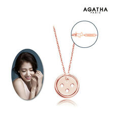 Pinocchio 2014 TV series Drama Park Shinhye Buttons Pendant Necklace AGATHA PINK