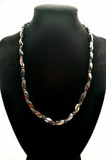 UNISEX 18 INCH MAGNETIC THERAPY HEMATITE NECKLACE: Black Hematite; Helps Pain!