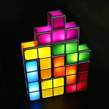 Tetris Konstruierbar Tisch-Lampe Tetris Retro Nachtlicht Stapelbar LED Neo Lampe