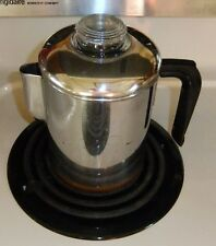 Vintage Revere Ware 1801 Copper Clad 4 Cup Stove Top Coffee Pot Percolator EUC