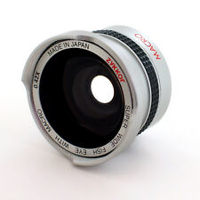 HD Wide Angle 0.42X Fisheye Lens for Sony Handycam DCR-HC26,HC28,HC32,NEW,USA