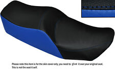 BLACK & ROYAL BLUE CUSTOM FITS KAWASAKI Z 550 LTD DUAL LEATHER SEAT COVER ONLY