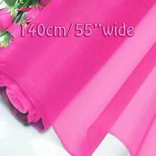 Hot Pink Rose Matière en Tissu d'Organza Pure Soie 140cm W au mètre