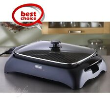 Indoor BBQ Grill Smokeless w/ Lid Portable Home Electric Tabletop Barbecue Grill
